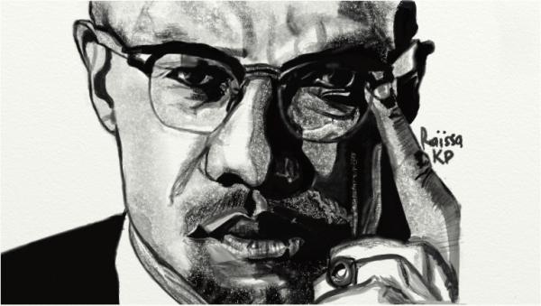 Malcolm X por RaissaKP